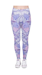 Leggings Fullprint Aztec lila