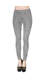 Leggings Fullprint Hypnose Black/White