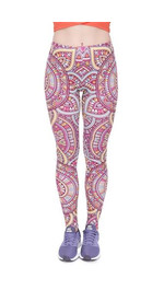 Leggings Fullprint Mandala Rot