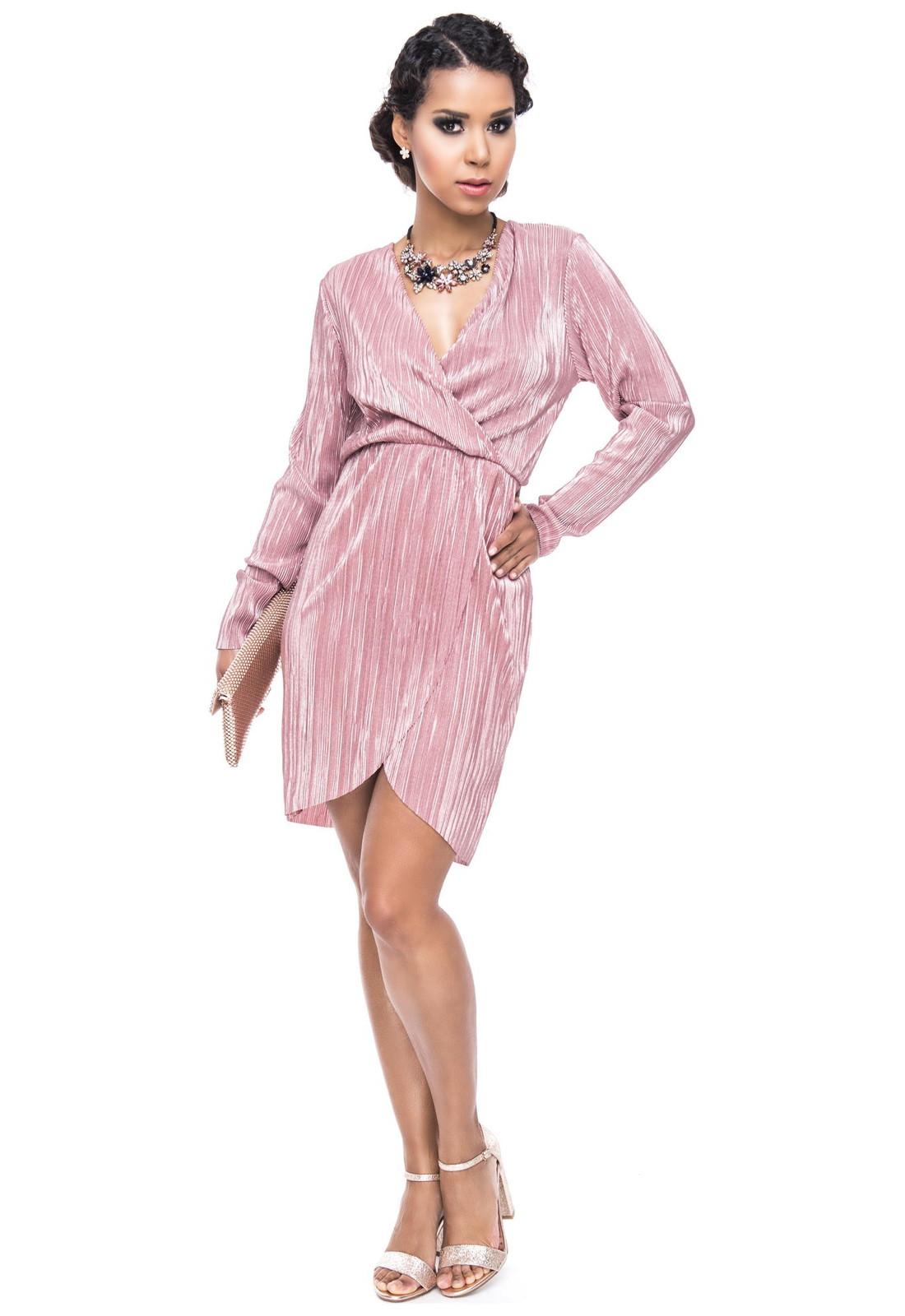 glitzer partykleid wickeloptik - damen bekleidung