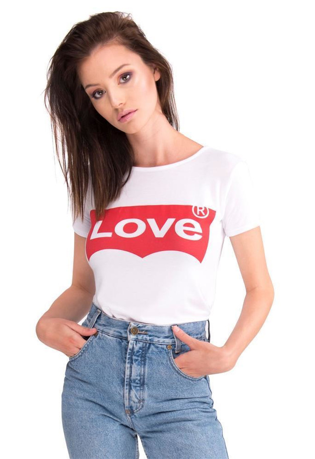 T-Shirt Love Logo Print