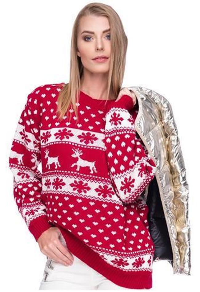 Weihnachstspullover Damen Weihnachstpullis Weihnachten Herzen Xmas ...