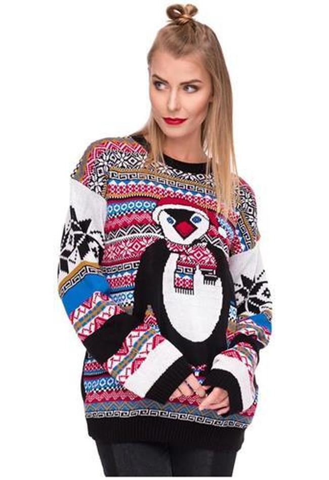 Weihnachstspullover Damen Weihnachstpullis Weihnachten Pinguin Xmas ...