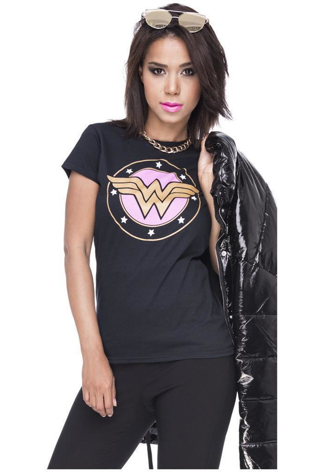 T-Shirt Wonderwoman Comic Motiv Logoprint