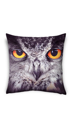 pillow case fullprint /black owl/