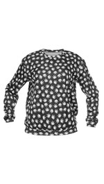 Sweater Fullprint Black Weed