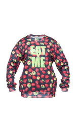 Sweater Fullprint Erdbeeren Eat Me