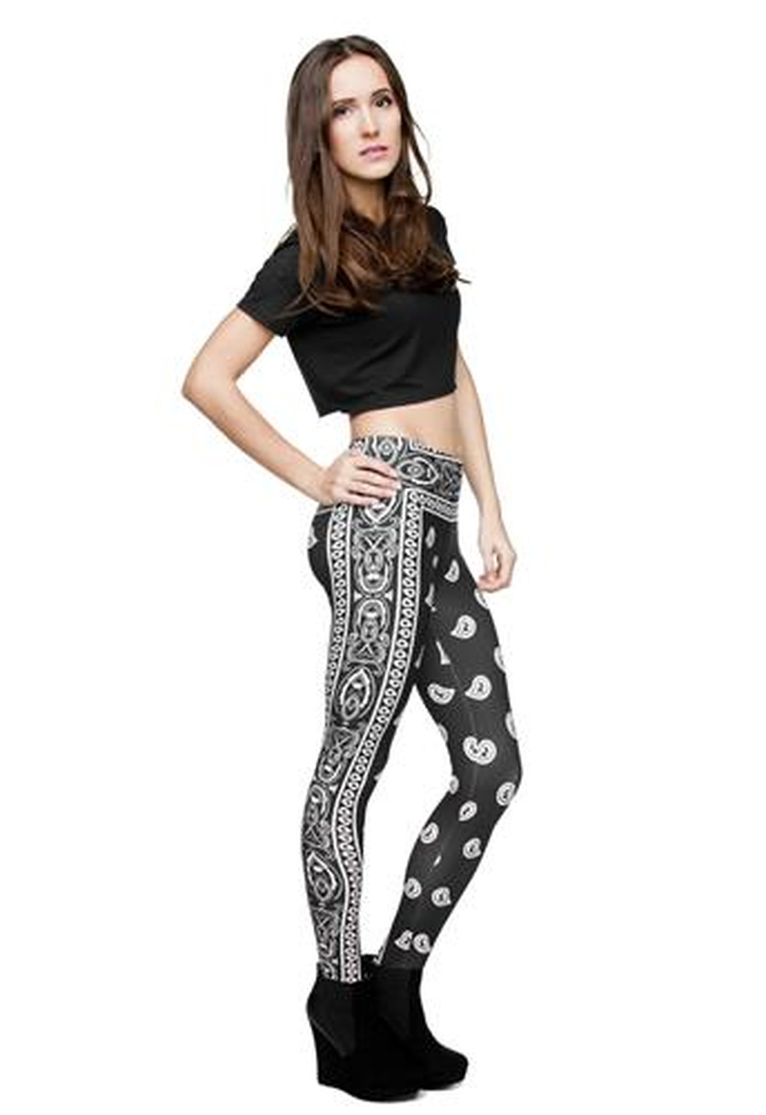 Leggings Fullprint Bandana Schwarz