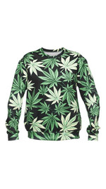 Marijuana / Black Weed Fullprint Sweater