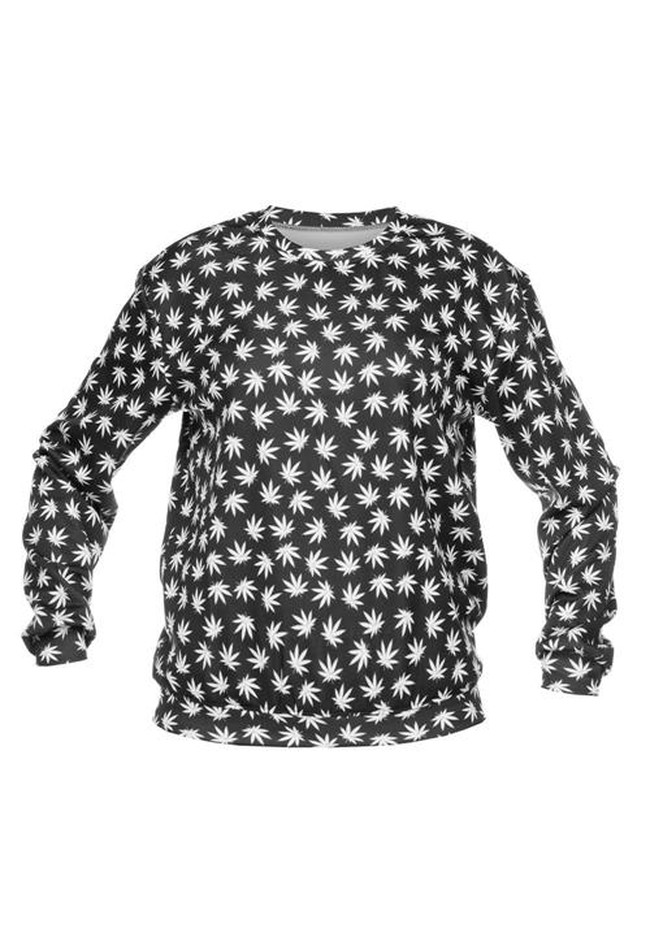 sweatshirt fullprint  BLACK MARIJUANA