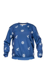 sweatshirt fullprint  MARINE BLUE