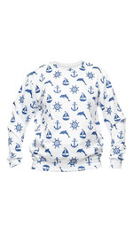 sweatshirt fullprint  MARINE WHITE