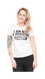 T-Shirt Ladies Round Morning Person