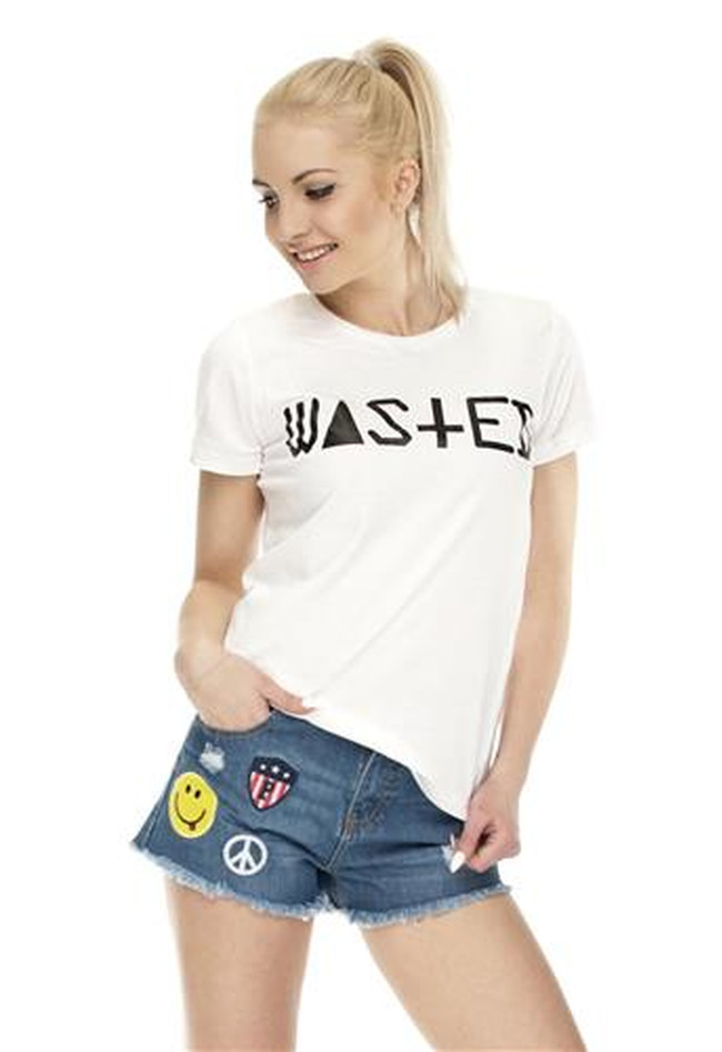 T-Shirt Ladies Round Wasted