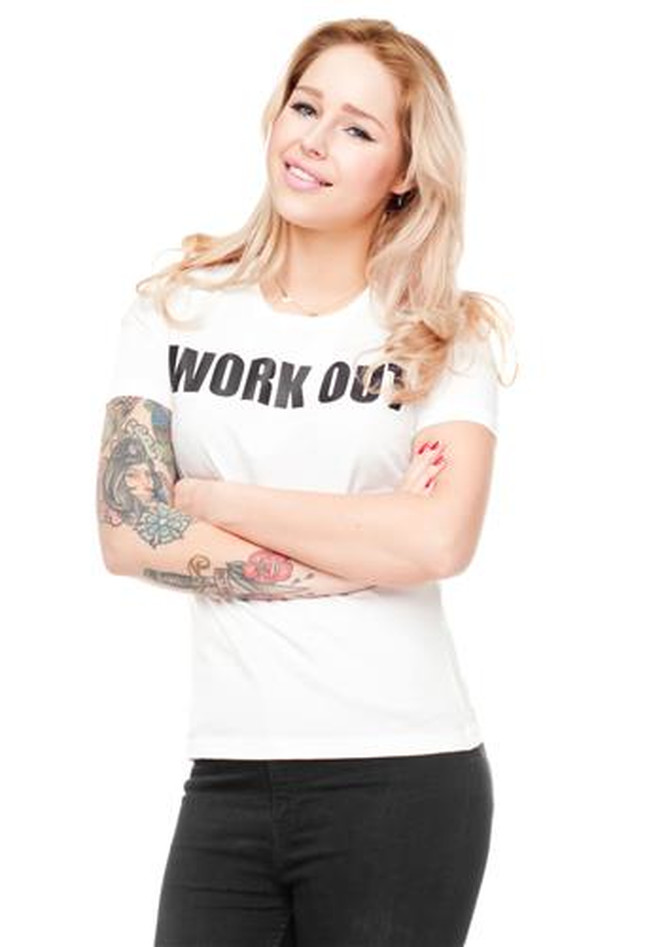 T-Shirt Ladies Round Work Out
