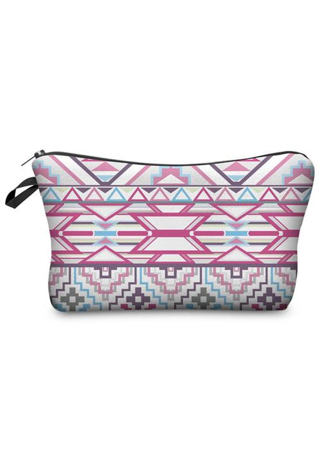 Make Up Bag Aztec Weiß/Pink