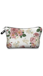 Make Up Bag Powder Pink Roses