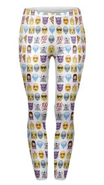 Leggings Emoji White