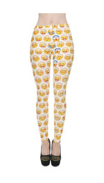 Leggings Fullprint Emoticon Yellow