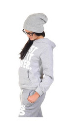 Just do it Hoodie Hellgrau M/L