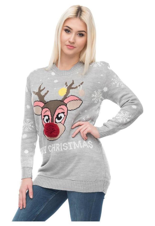0450e5282dc5 Weihnachstspullover Damen Weihnachstpullis Weihnachten... Top Angebote