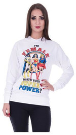 Sweater FEMALSUPER Sweatshirt Superheldin Comic