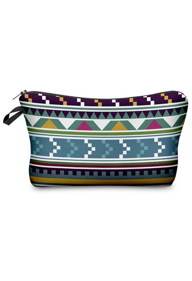 Make Up Tasche Fullprint in Blau