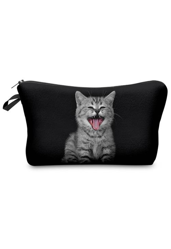Make Up Bag Crying Cat
