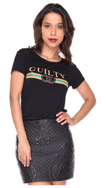 Tshirt Mercy Guilty slim  S/M Guilty Schwarz