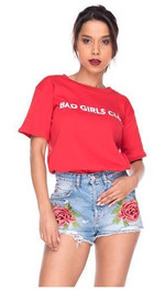 Oversize Tshirt Bad Girls Club M/L Rot
