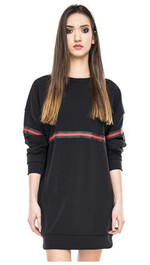 Oversize Sweater long mit Frontstripes