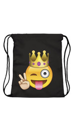 Beutel Plain Emoji King Black