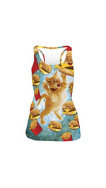 tank top fullprint  FAST FOOD CAT