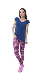 Leggings Boho Purple