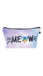 Make Up Bag Meow Rainbow Cat