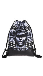 half leather simple backpack  ANONYMOUS STATUE