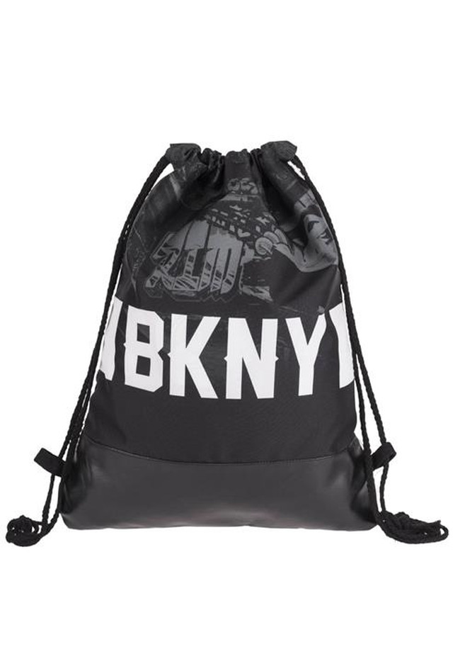 half leather simple backpack  BKNY GRAFFITI CITY