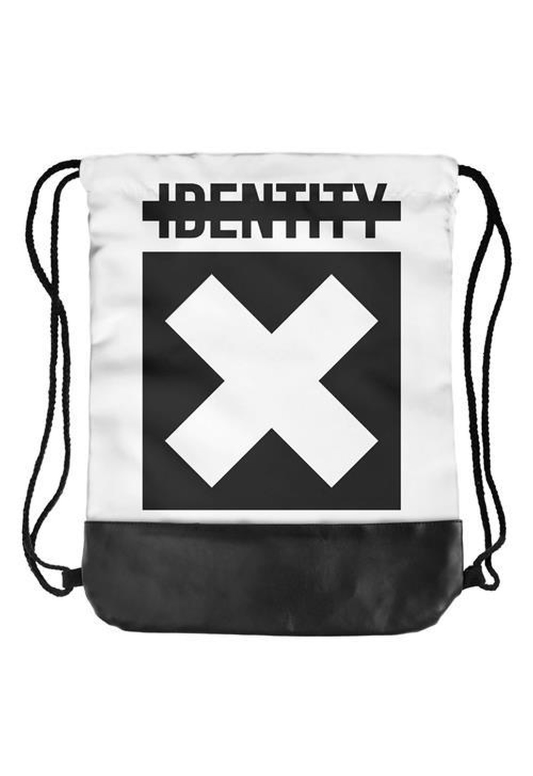 half leather simple backpack  IDENTITY X