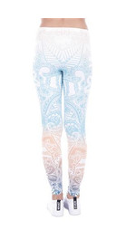 Leggings Fullprint Mandala Minze