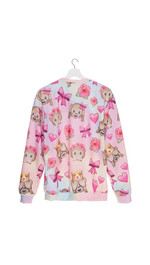Sweatshirt Fullprint Emoji Monkey Color