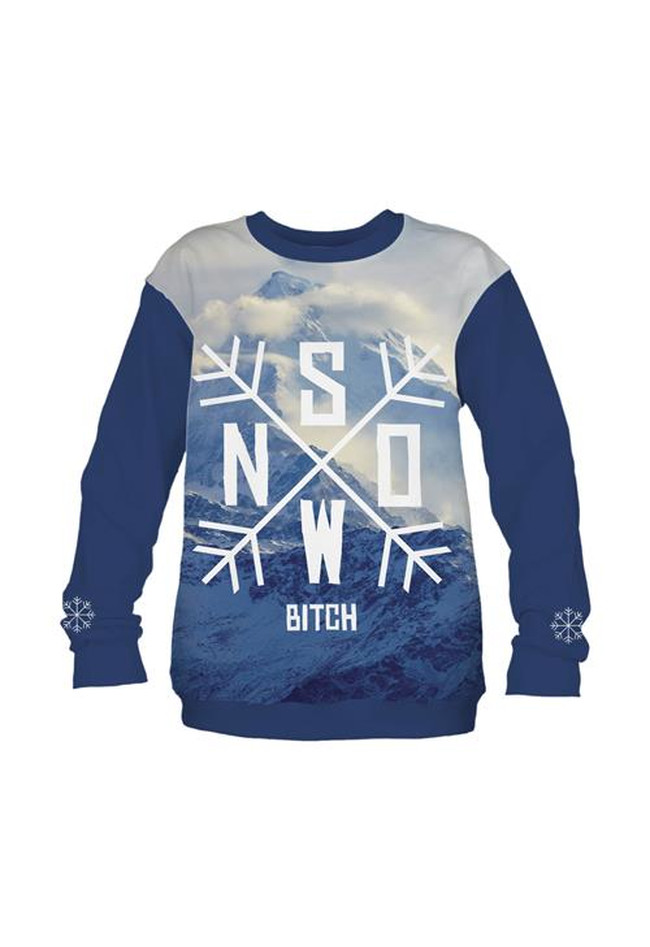 Sweatshirt Fullprint Snow Bitch