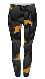 Fullprint Leggings Orange Grey Camo